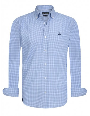 Sir Raymond Tailor camisa para hombre azul print