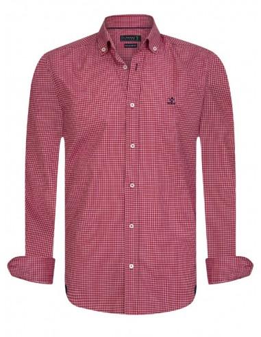 Sir Raymond Tailor camisa para hombre red print