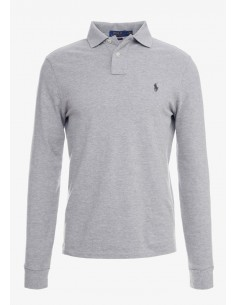 Polo manga larga small pony gris/navy