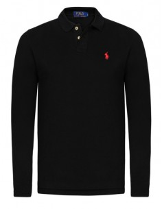 Polo manga larga small pony negro/rojo