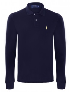 Polo manga larga small pony navy/yellow