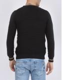 Jersey Sir Raymond Tailor cuello redondo texturizado - negro/blanco