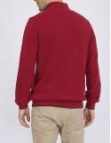 Jersey Sir Raymond half zip texturizado - rojo