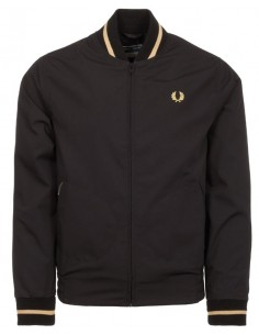Fred Perry chaqueta Bomber hombre - black/gold