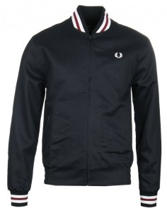 Fred Perry chaqueta Bomber hombre - black/white/red