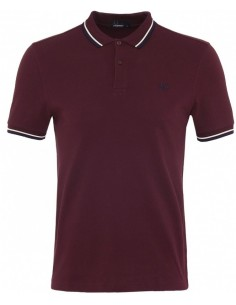 Polo básico hombre Fred Perry slim fit - burdeos