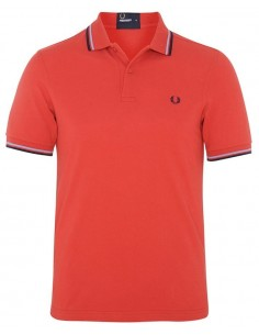 Polo básico hombre Fred Perry slim fit - red/blue
