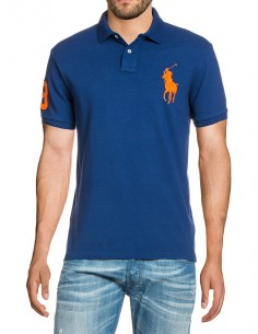 Polo big pony hombre - royal/orange