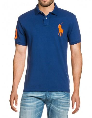 Polo big pony hombre - royal/orange