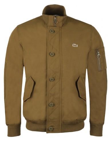 Lacoste chaqueta bomber para hombre acolchada - kaki