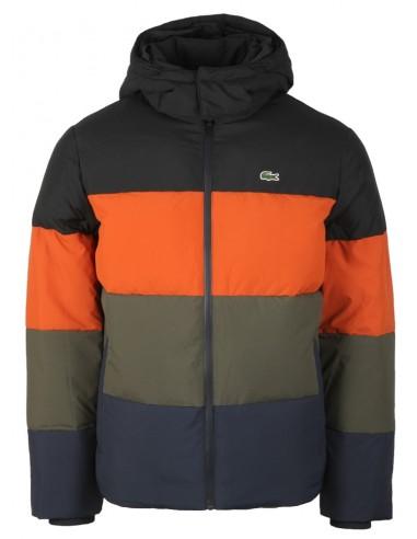 Lacoste chaqueta pumón de invierno para hombre - tricolor