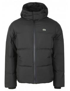 Lacoste chaqueta pumón de invierno para hombre - negra