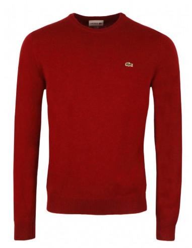 Jersey Lacoste cuello redondo - rojo