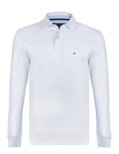 Polo Tommy manga larga - blanco