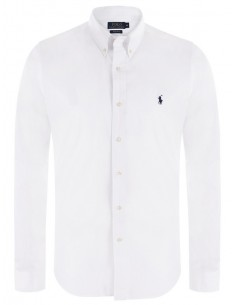 Camisa Polo de hombre slim fit - white basic