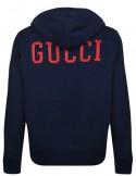 Chaqueta felpa GUCCI back logo NY para hombre - marino
