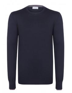 Jersey de cuello redondo Moncler - Navy