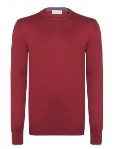 Jersey de cuello redondo Moncler - Rojo