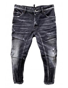 Vaqueros Dsquared para hombre twisted vintage - black