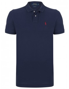 Polo manga corta small pony - Navy/Red