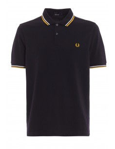 Polo básico hombre Fred Perry slim fit - black/orange
