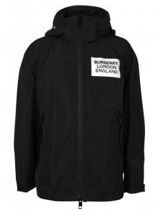 Burberry chaqueta windbraker para hombre - negra