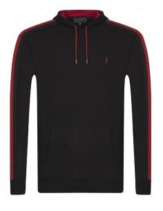 Sir Raymond Tailor sudadera capucha para hombre - black/red