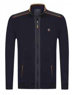 Sir Raymond Tailor sudadera con cremallera - navy exclusive