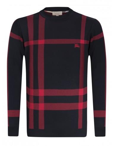 Burberry jersey para hombre icónico - black/beige