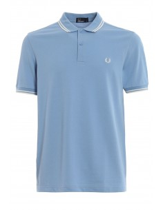Polo básico hombre Fred Perry slim fit - skyblue/white