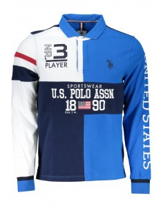 Polo rugby US POLO ASSN para hombre tricolor - navy