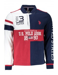 Polo rugby US POLO ASSN para hombre tricolor - red
