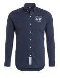 Camisa La Martina para hombre slim fit - navy washed