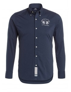 Camisa La Martina para hombre slim fit - navy washed