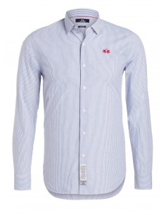 Camisa La Martina para hombre slim fit - blue stripes