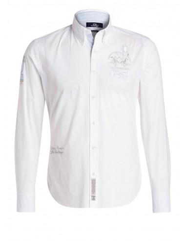 Camisa La Martina para hombre slim fit - blanca