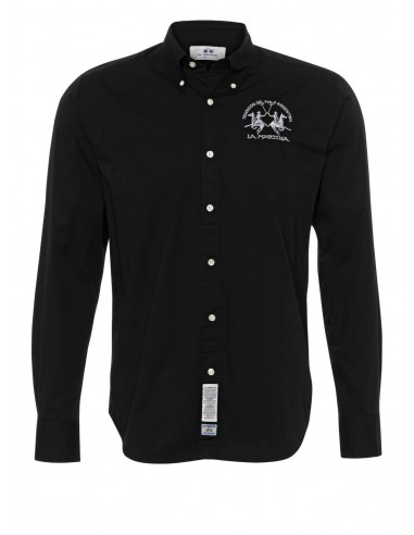 Camisa La Martina para hombre basic - negra