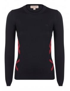 Burberry jersey para mujer icónico - black red