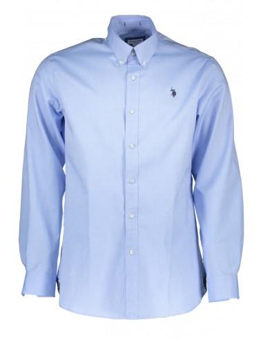 Camisa US POLO ASSN para hombre en algodón azul claro