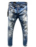 Vaqueros Dsquared para hombre con detalles bolsillo - azul