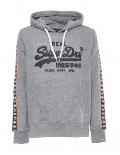 Superdry sudadera hombre logo lateral - gris