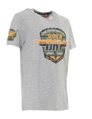 Superdry camiseta hombre heritage - light grey