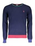 Jersey U.S. Polo Assn para hombre coderas - navy multicolor