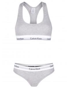 Calvin Klein set braguita y sujetador - gris