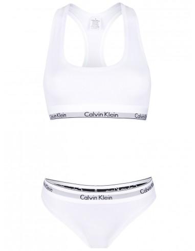Calvin Klein set braguita y sujetador - blanco