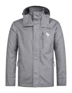 Abercrombie chaqueta técnica para hombre - grey