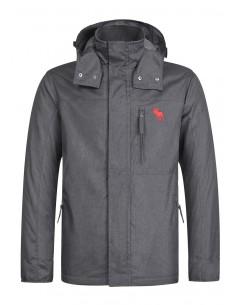 Abercrombie chaqueta técnica para hombre - darkgrey