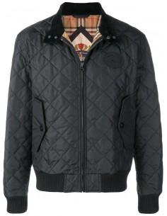 Burberry chaqueta haarington acolchada - black