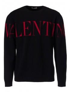 Valentino Jersey de cuello redondo Big Logo - negro