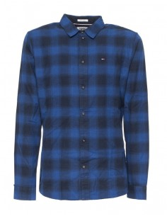 Tommy Jeans camisa para hombre - cuadros azules